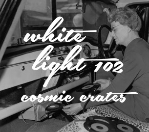 No rules and getting to pull weird, chilled out records is what our White Light mix is all about. Both sides are all vinyl and full of lush vibes. Typically we record to tape, but for White Light we wanted more runway to take advantage of the free format, so we ripped each side in one take to a digital recorder. Which means you'll still hear the cracks and pops and mistakes… and we wouldn't have it any other way.